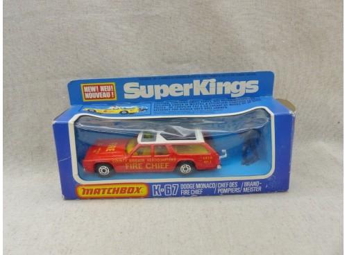 K-67 Dodge Monaco Chef Pompiers SuperKings Matchbox King Size