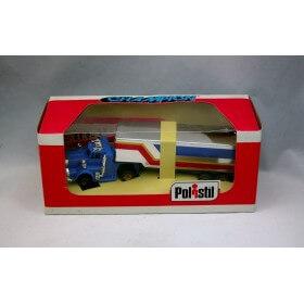Polistil A 615 camion bleu avec remorque ho