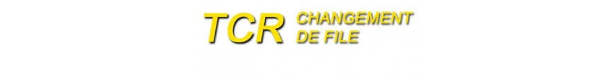 Circuits TCR Changement de file voitures et pièces détachées